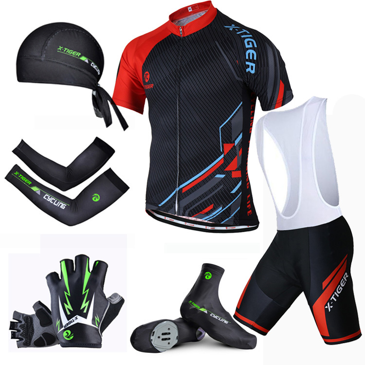 X-Tiger Summer Cycling Set ! 2018 Breathable Bicycle Clothing Shorts Sleeve Cycling Jersey Summer MTB Bike Clothes Sportswear new flowers skulls woman s bicycle jersey shorts suit bike bicycle short sleeve clothing set sportswear cycling clothes