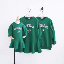 Mother daughter dresses family matching clothes family clothing letter hoodies mother and daughter clothes sweaters family look
