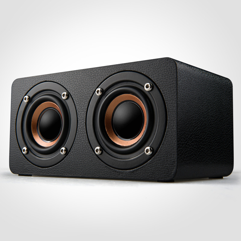 10W Wooden Bluetooth Speaker Wireless 4.0 Dual Bass Stereo Speakers Outdoor Sound Box With FM Radio