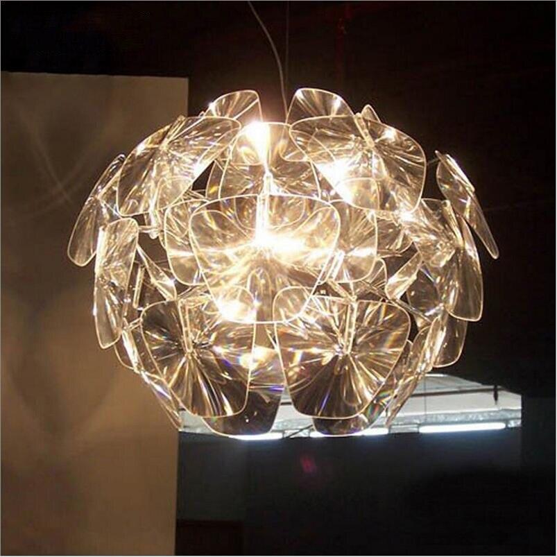 Narrandes акрил Открытый Подвесные Светильники Обеденная шнур висит современные Кухня PC подвесной светильник ресторан освещение светильники