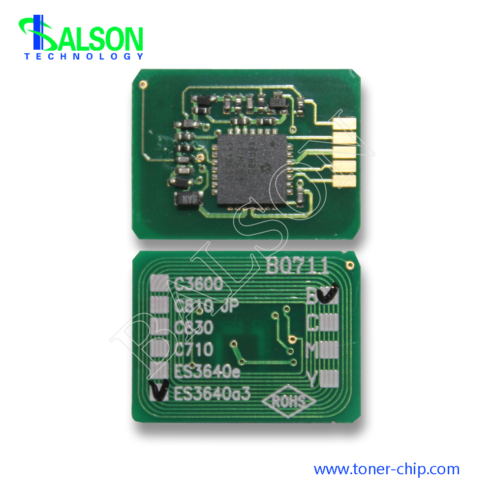 Free shipping 16 5K Hot sale toner chip for oki ES3640a3 cartridge reset chips 43837108 43837107 43837106 43837105 in Cartridge Chip from Computer Office