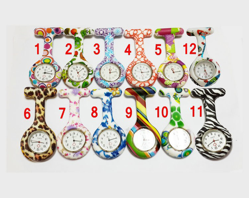 Wholesale 100pcs Silicone Nurse Pocket Watches Rubber Doctor Watches Custom Logo Free Shipping Medic Watch Relojes Enfermeria