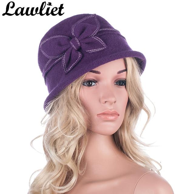 e6e3832165bf5 Women Hats GATSBY 1920s Style Winter Wool Cap Beret Beanie Bucket Cloche  Floral Hats for Women Church Hats A286