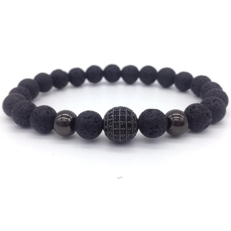Black meteorite bead