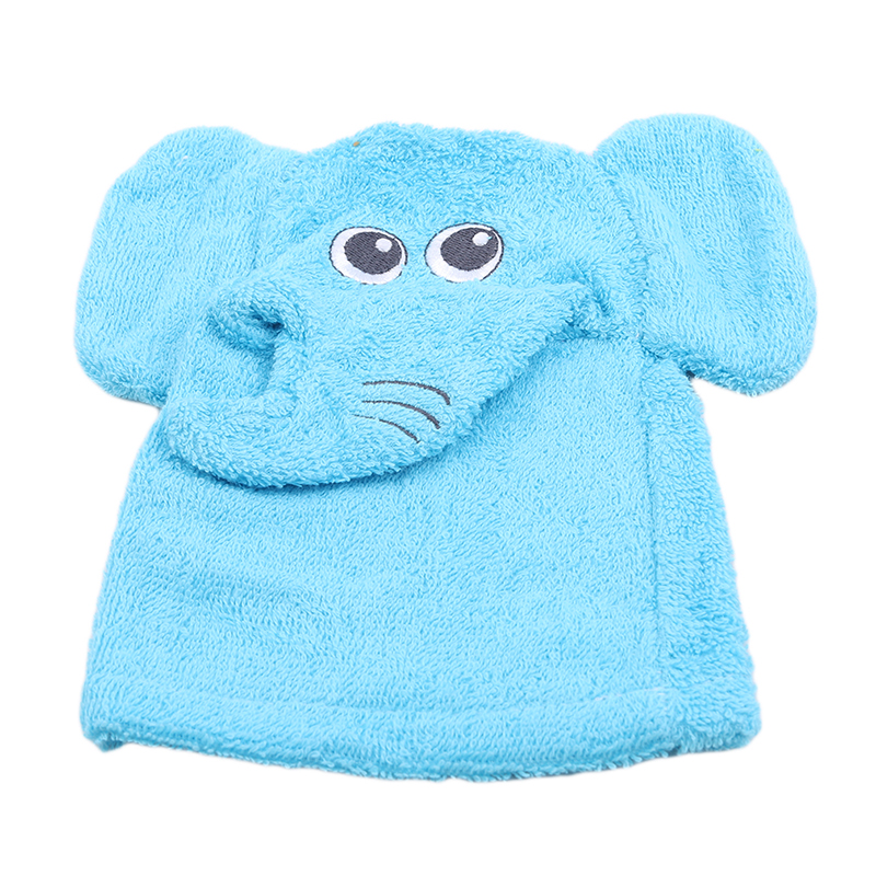 1 Pc New Baby Bath Brushes Cute Cartoon Animal Modeling Soft Cotton Baby Kid Child Exfoliating Bath Gloves Shower Gloves Towels image