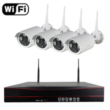 Aokwevision P2P 4CH Wireless WiFi NVR Kit 720P HD Outdoor IP Video Security CCTV Camera IR night Wifi Surveillance System