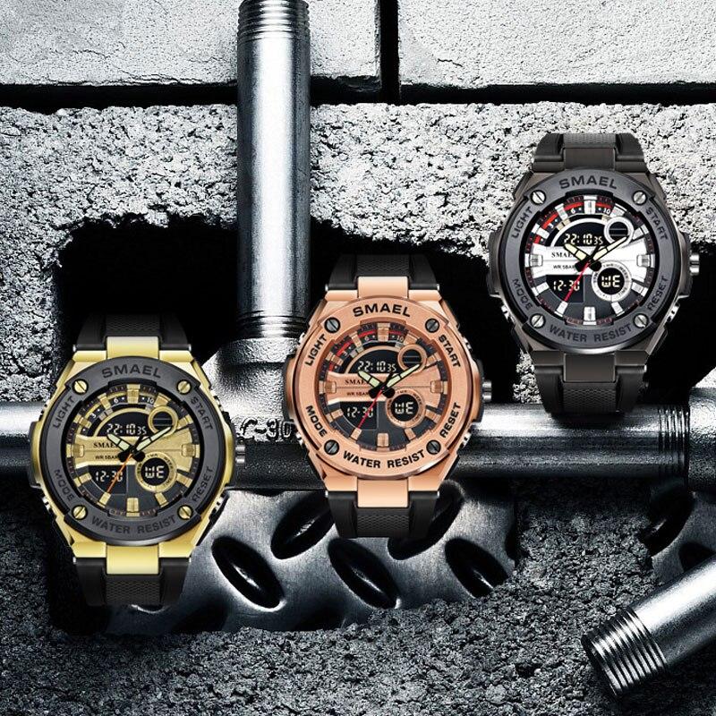 Men Military Watches Brand Luxury SMAEL Sport Quartz Wristwatches Male Watches relogio Digital 1625 Sport Watches Waterproof Men