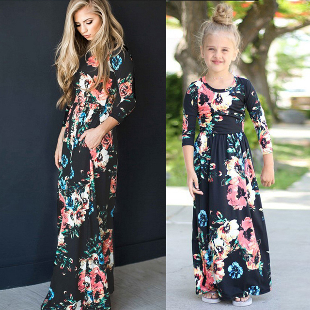 Maxi Dress Family Matching Outfits