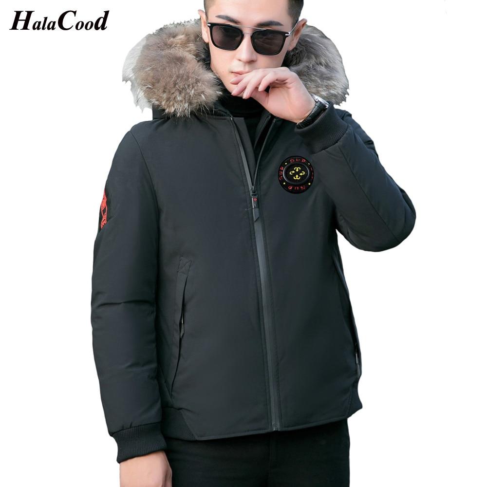 Hot Winter jacket men 2018 new plush warm men   down   jacket fashion thickened warm men   down     coat   fur collar hoodie zip men jacket