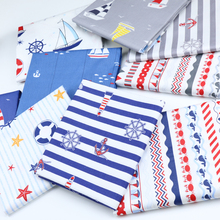Navy Sailing Anchor Series Children Cotton Printed Fabrics Baby Bedclothes Kindergarten Three-piece