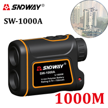 Telescope Laser Rangefinder 1000m Laser Distance Meter 8X Monocular Golf hunting laser Range Finder tape Measure Roulette sports