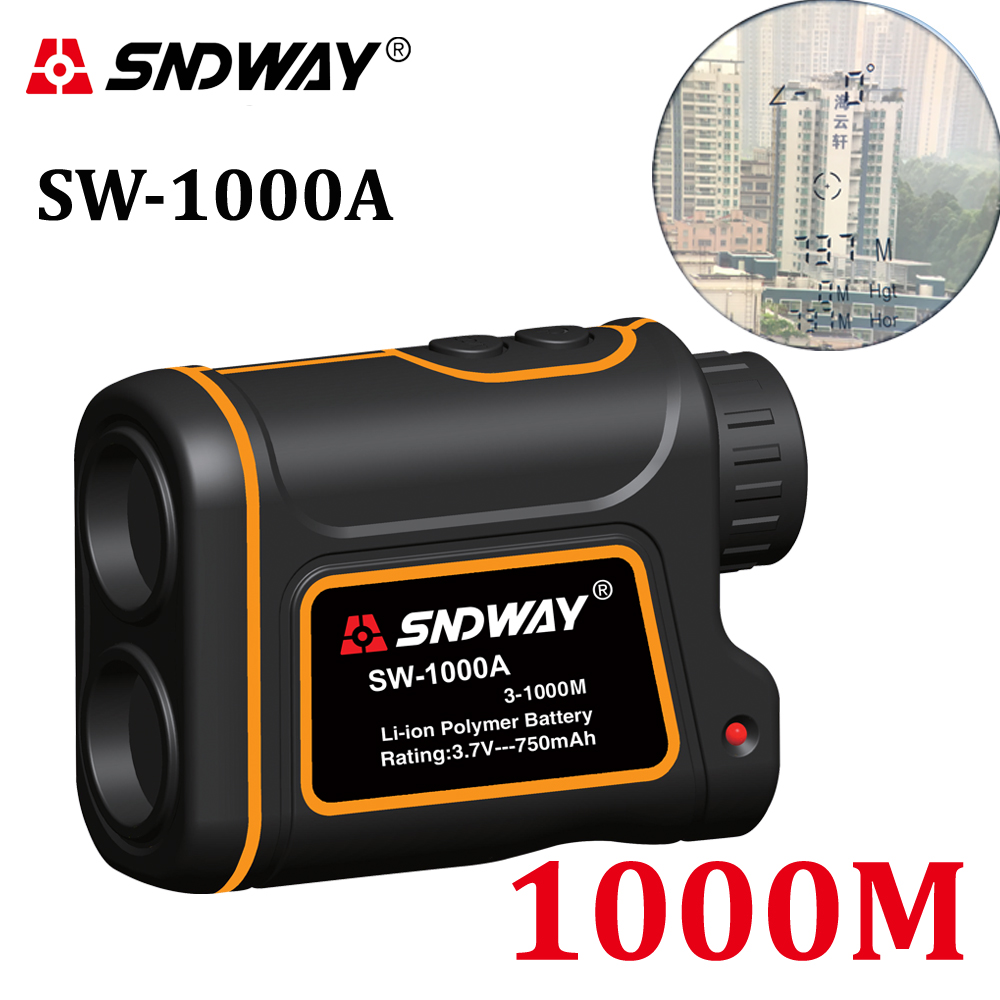 Telescope Laser Rangefinder 1000m Laser Distance Meter 7X Monocular Golf hunting laser Range Finder tape Measure Roulette sports