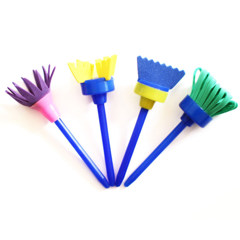 Drawing Toys Learning & Education Nice 4pcs/set Rotate Spin Paint Drawing Sponge Brushes Kids Diy Flower Sponge Art Graffiti Brushes Painting Tool Educational Toy Preventing Hairs From Graying And Helpful To Retain Complexion