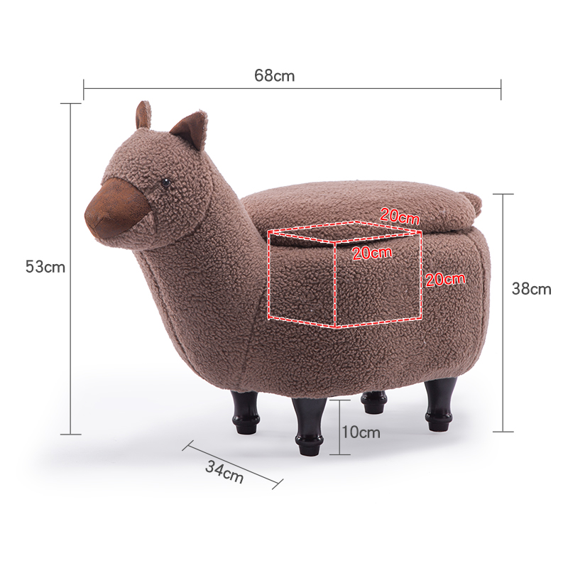 Louis Fashion Stools Ottomans Cartoon Animal Sofa Alpaca Hall Storage Testing Shoes Modern Simple Shoes Living Room Furniture