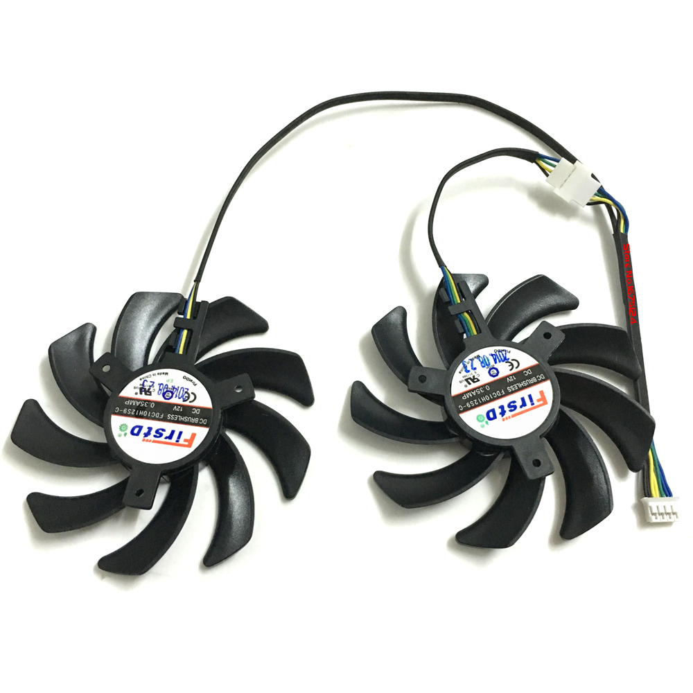Купить с кэшбэком 2 Pcs/Lot 85MM 4Pin GPU HD7950 HD7970 VGA Fan Cooler Graphics Card For Sapphire R9-370X/280/280X/285 Video Cards Cooling