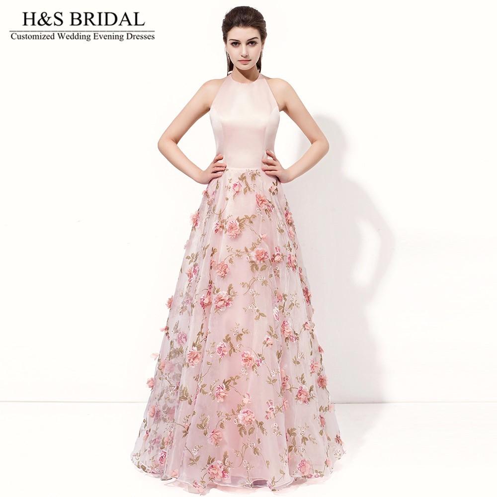 c0160a9b9 H & s الزفاف ألف خط الوردي أثواب السهرة الرسمية فساتين عارية ...