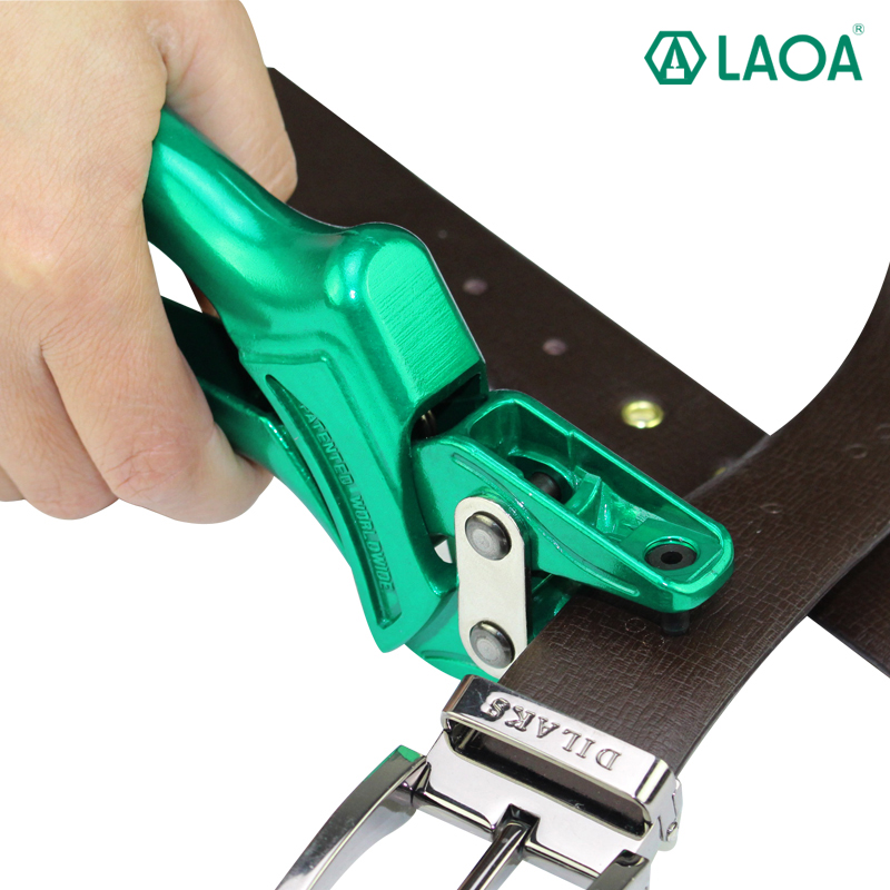 LAOA Green Color Hole Puncher Punching Forceps For Belt Card Snap Button Eyelet Punch Pliers  цены