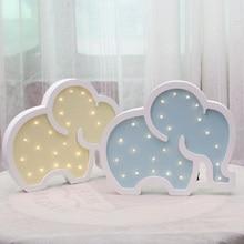 Animal Wooden Unicorn Night Lights Elephant Room Decor Night Desk Table Lamp Moon Star Multicolor цена