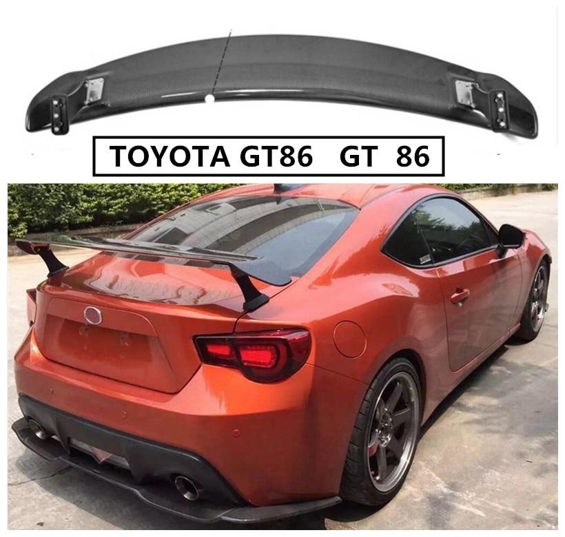 En Fiber De carbone Spoiler Pour TOYOTA GT86 GT 86 2012-2018 Spoilers Aile Haute Qualité Accessoires De Modification de Voiture