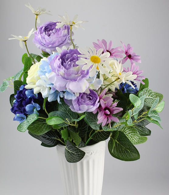 1 Flower Bouquets Home Decoration Flower Arrangement Silk Flower