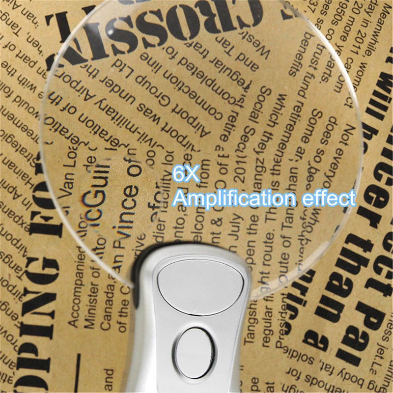 2 LED Lamp Magnifier Clip-on Desk Table Magnifying Glass Loup Durable ALI88