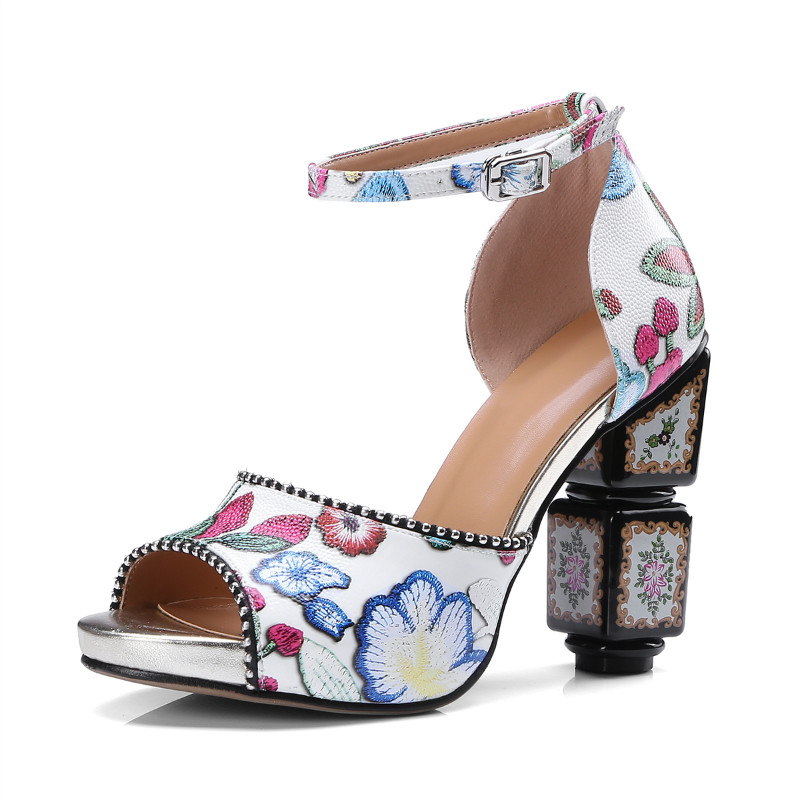 XiuNingYan Brand Genuine Leather Women Sandals Peep Toe High Heels Fashion Ladies Wedding Party Shoes Woman 2018 Plus Size 34-43 genuine leather women sandals high heels peep toe pumps summer shoes woman high heel sandals plus size 34 40 41 42 43