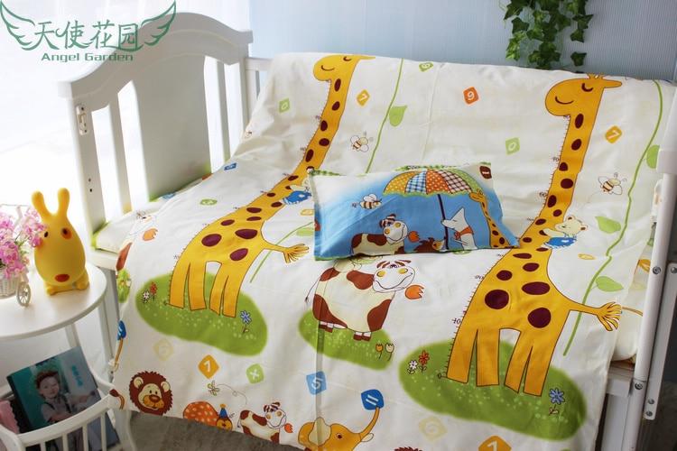 Promotion! 9PCS Baby bedding set Cartoon 100% cotton bed clothes bed decoration , crib bedding set 120*60/120*70cm
