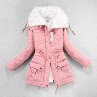 Зимняя одежда, Женская флисовая парка из овечьего меха, толстые женские зимние пальто и куртки, теплые женские парки больших размеров, зимня...
