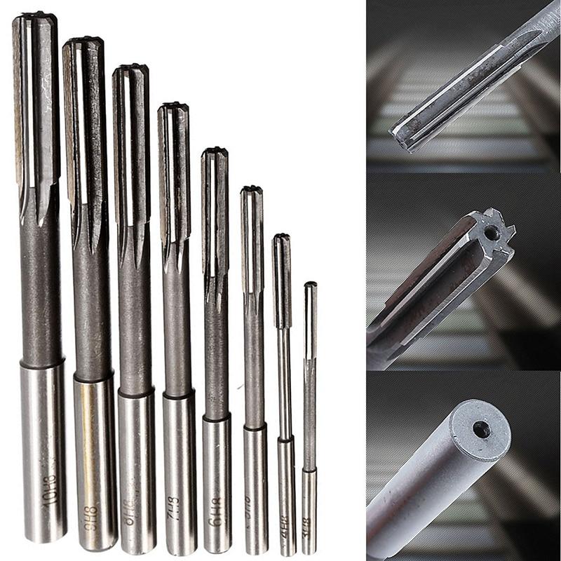 8pcs/set HSS H8 Machine Reamer Straight Shank Chucking Reamers Set Cutter Tool 3/4/5/6/7/8/9/10mm  цены