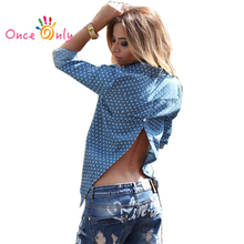 2017 Hot Autumn Style Long Sleeve Women Jeans Shirt Casual Slim Tops Blusas Fashion Clothing Sexy Club Denim Blouses Brand Tops