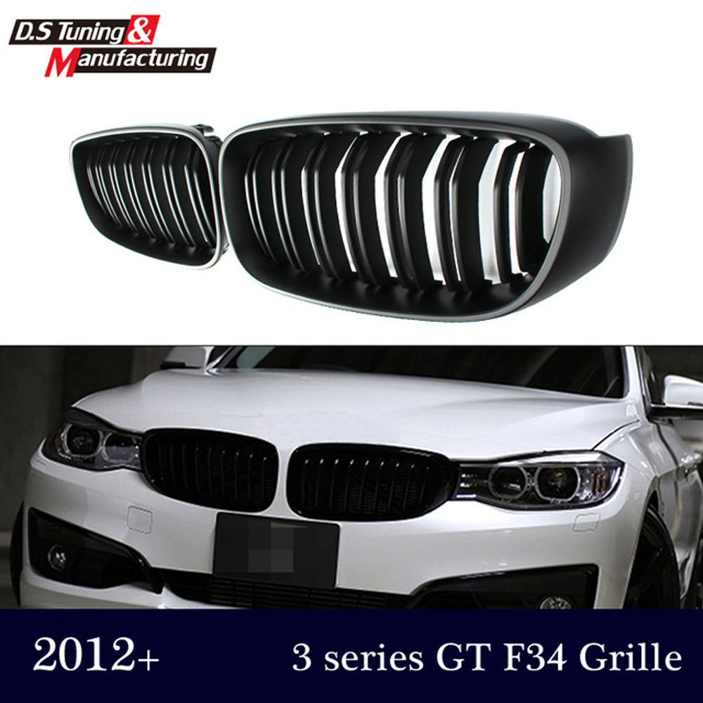 3 series gt gran turismo f34 dual slat front kidney grill grille mesh for bmw 3 series gt 2012+ 320i 328d 335i 318d