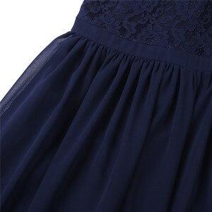 Image 5 - Tiaobugノースリーブレースフラワーガールズドレスキッズページェント結婚式フォーマルな日の夜会服のウェディングパーティー王女のチュールドレス