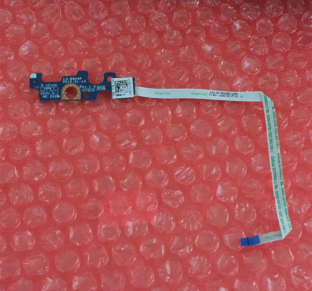 WZSM Brand New Power Button Switch Board for Dell Inspiron 5000 Series 15 15.6 5555 5551 14-5458 LS-B844P new power button board for dell inspiron 14 5455 15 5555 5558 5559 3558 switch board ls b844p