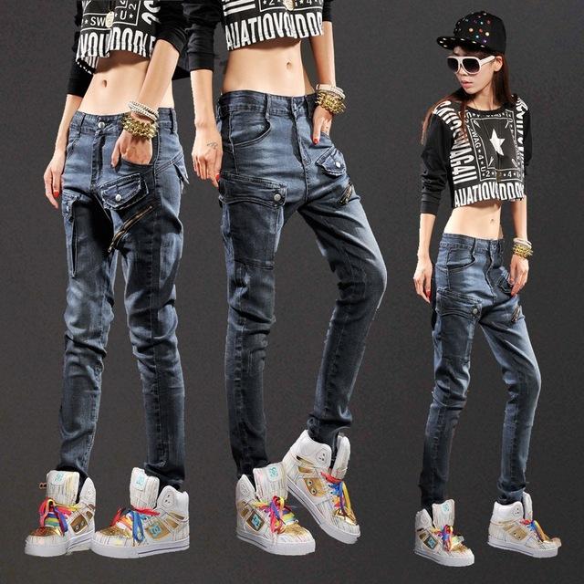 Verano nuevos pantalones casuales pantalones vaqueros flojos mujeres Manera de La promoción de Descuento venta de ropa barata de china sexy Venta en otoño