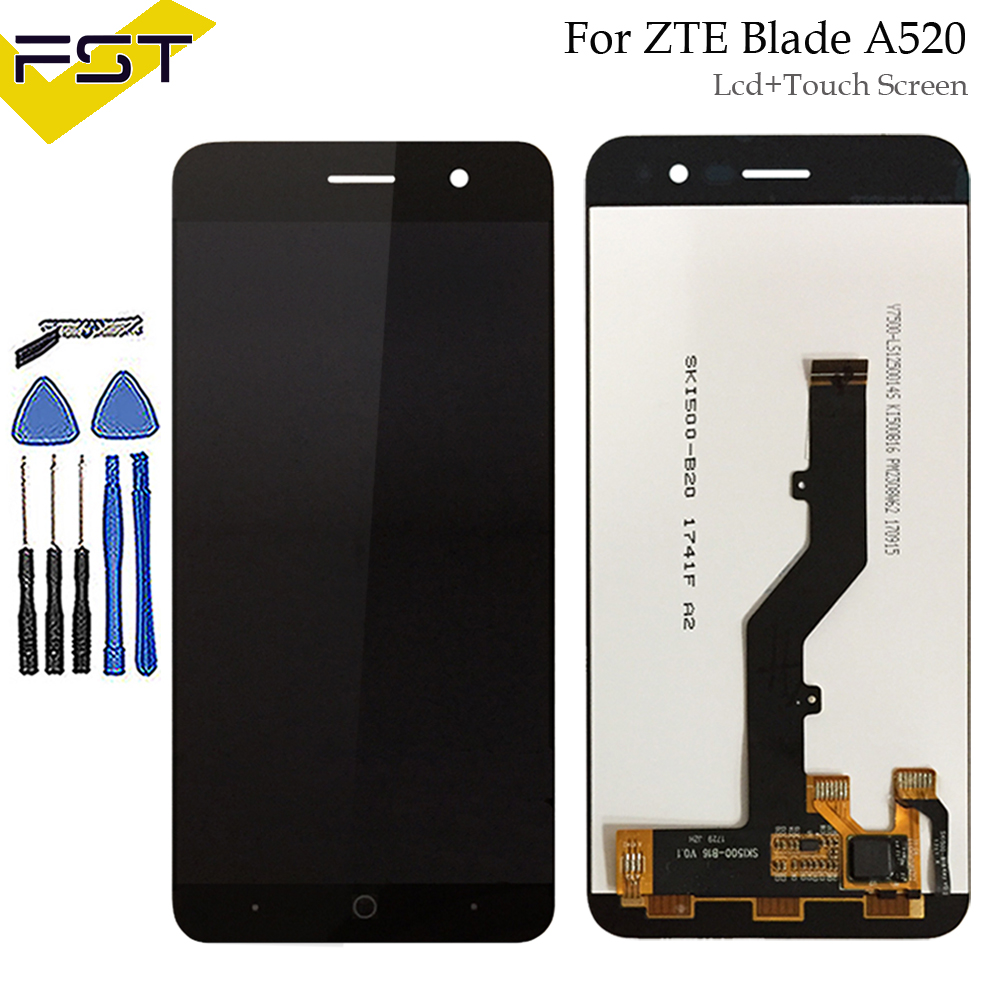 For <font><b>ZTE</b></font> <font><b>Blade</b></font> <font><b>A520</b></font> LCD Display and Touch <font><b>Screen</b></font> Digitizer Assembly Repair Parts 5 Inch Accessories+Tools +Adhesive image