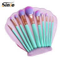 Sinle Professional Set Wooden Brand With Foundation BB Cream Concealer Power Blush Eyeshadow Makeup Brush For