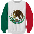New Arrive Mexican Flag Sewatshirt 3D Printed beauty of the Mexican Hoodies Pullover Women/Men Clothing Jumper Crewneck