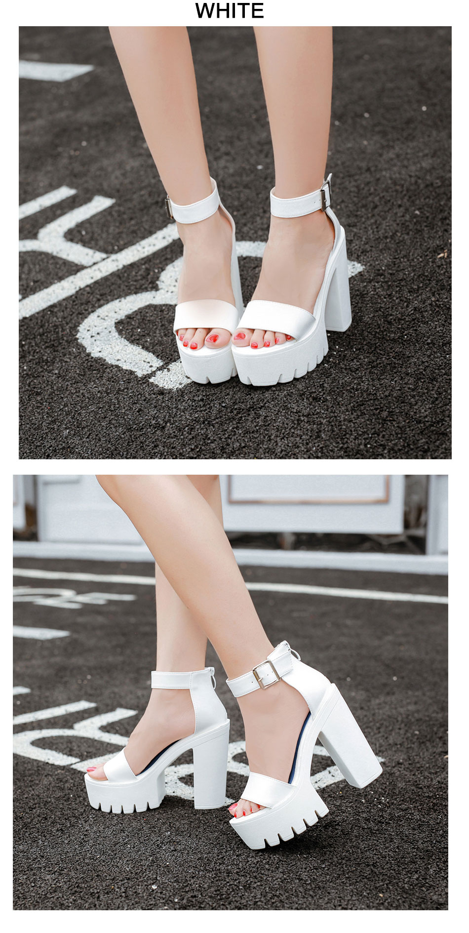 Gdgydh Drop Shipping White Summer Sandal Shoes for Women 2019 New Arrival Thick Heels Sandals Platform Casual Russian Shoes