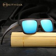 KITHDIA Polarized Bamboo Sunglasses Men Wooden Sunglasses Brand Designer Mirror Sun Glasses Oculos de sol masculino # стоимость