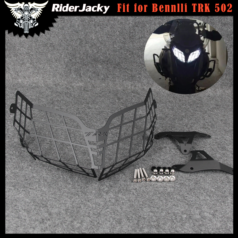 Motorcycle Headlight Guard Protector Grille Covers For <font><b>Benelli</b></font> Head light <font><b>Accessories</b></font> TRK502 <font><b>TRK</b></font> <font><b>502</b></font> image