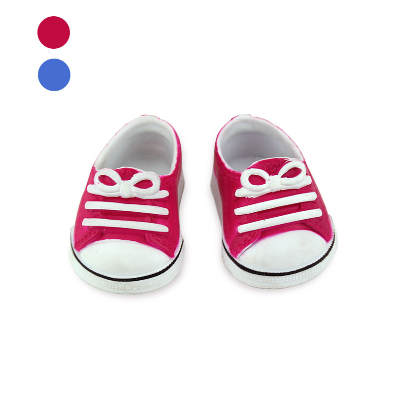 Blue And Red Plastic Sneaker Fit For 43cm Doll , 17 Inch Dolls Shoes