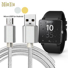 1 Mt Nylon 5pin Micro-usb-daten Sync & Ladekabel für Sony Smartwatch 2, SmartWatch 3 Ladekabel