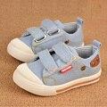 Новинка джинсовые детская обувь девушки парни кроссовки свободного покроя весна осень холст детская обувь