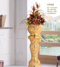 European-style large ceramic vase living room decoration hotel Roman column.