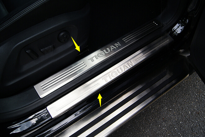 car styling stainless steel inner outside Door sills plate scuff pedal welcome pedal cover for Volkswagen