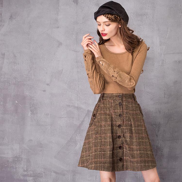 Spencers 2018 用冬の女性のウールスカートロリータショートスカート女の子のためのヴィンテージ格子縞のスカートミニサイア United 6