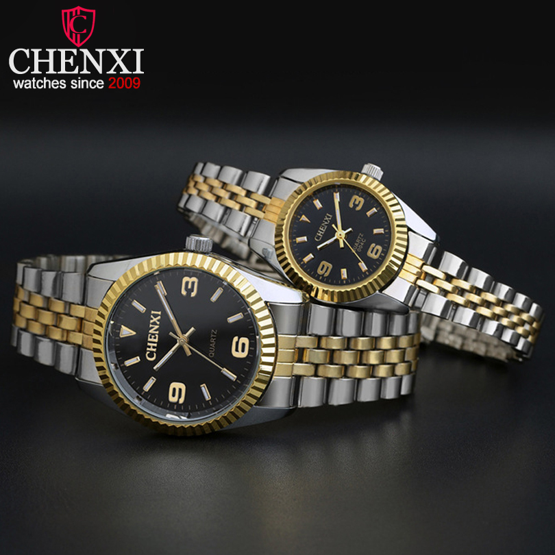 CHENXI Top Brand Watch Ladies Quartz-Watches Women& Men Simple Dial Lovers' Quartz Fashion Leisure Wristwatches Relogio Feminino