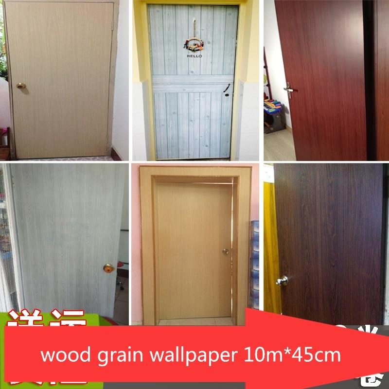 5m*90cm Pvc self-adhesive wallpaper door table closet door wardrobe furniture refurbished bedroom dormitory wood grain sticker