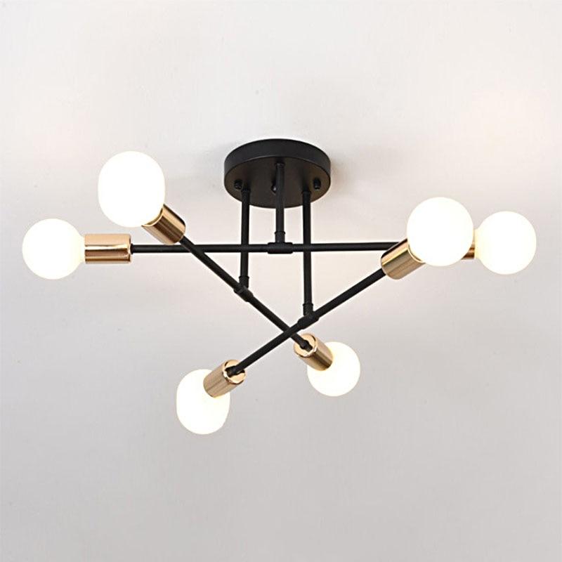 HTB1goUSc.GF3KVjSZFvq6z nXXad Smuxi 6/8 Head LED Industrial Iron Ceiling Light Living Room Ceiling Lighting Nordic 220V E27 Modern Simple LED Lamp