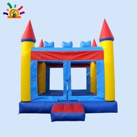 Free Shipping Commercial PVC Castle Inflatable Bouncer for Sale(Free CE Blower+storage bag)